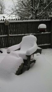 The Snow Rests On a Cozy Chair
