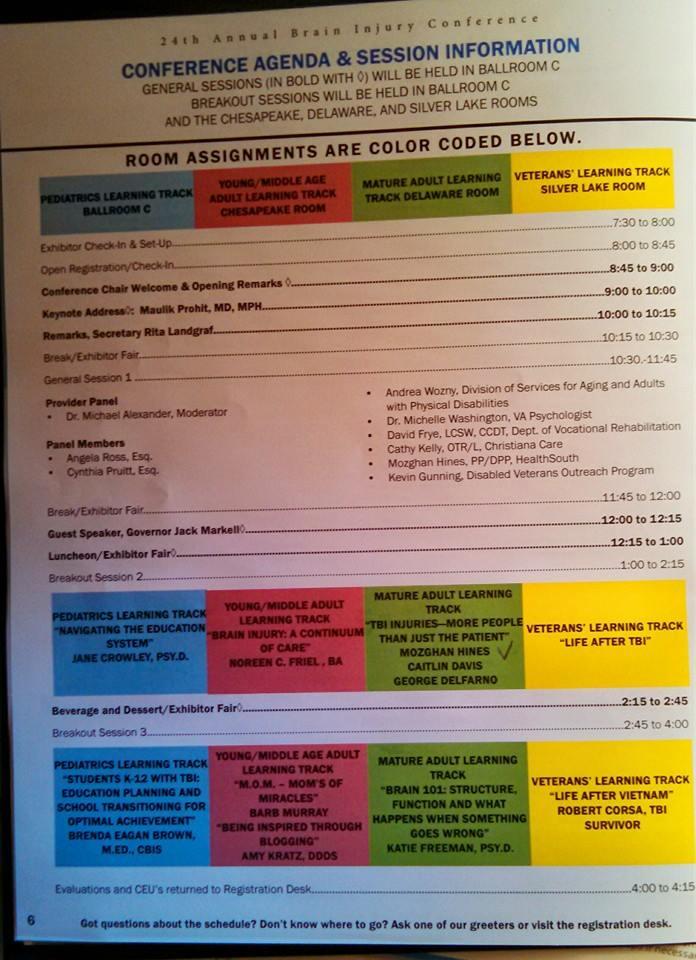 BIA of Delaware Conference 2015  Agenda